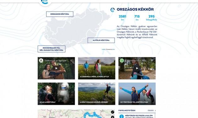 Dinamikus tartalmakkal szólítja meg a fiatalokat a Kéktúra megújult weboldala