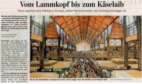 A Vásárcsarnok és Hévíz sikere a német sajtóban