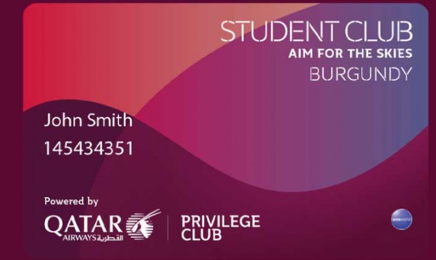 Qatar Airways: exkluzív törzsutasprogram diákoknak