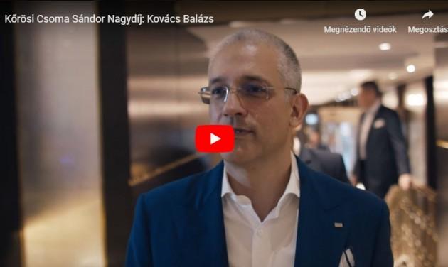 Kőrösi Csoma Sándor Nagydíj: Kovács Balázs – videó