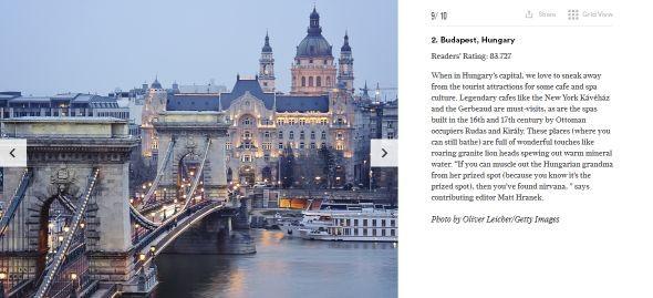 A Conde Nast Travelernél Budapest ezüstérmes