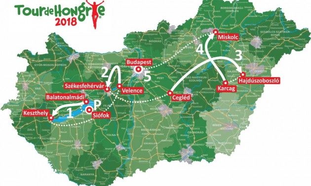 Megvan a Tour de Hongrie 2018 útvonala