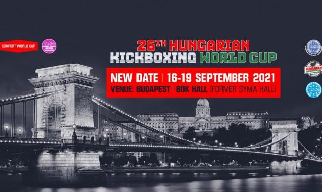 Kick-box világkupa Budapesten szeptemberben