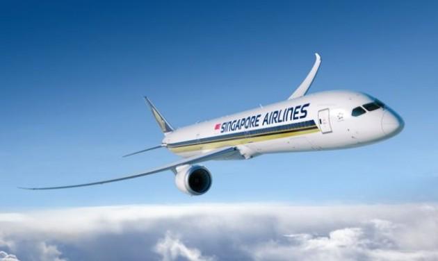 Jelentős forgalomnövekedés a Singapore Airlinesnál