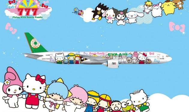 Kitty és barátai az Eva Airnél