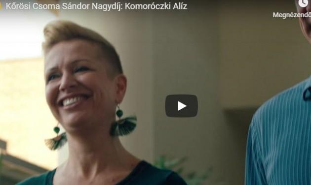 Kőrösi Csoma Sándor Nagydíj: Komoróczki Alíz – videó