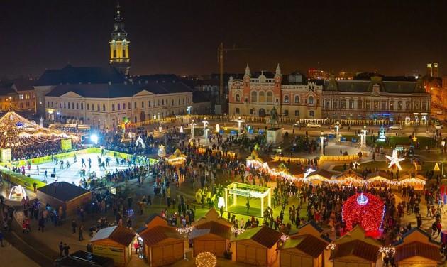 Kigyúltak a karácsonyi fények Nagyváradon