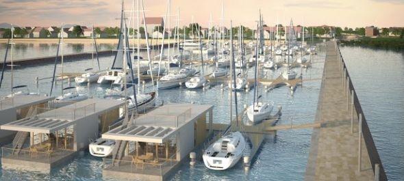 Fenyvesen épül a Balaton egyik legkorszerűbb kikötője