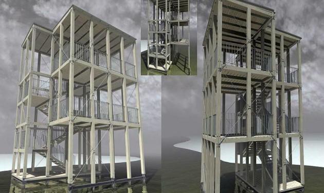 Vízi kilátótornyok épülnek a Tisza-tavon