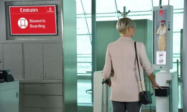 Az Emirates már élesben teszteli a biometrikus útvonalat
