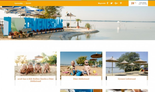 Megújult Gyenesdiás turisztikai portálja