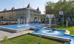 Megújult a szökőkút Győr belvárosában