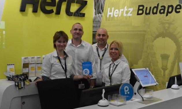 Elismerés a repülőtéri Hertz irodának
