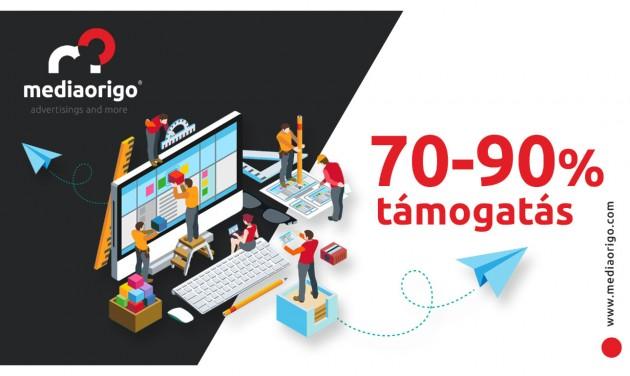 70–90% vissza nem térítendő támogatás informatikai fejlesztésre