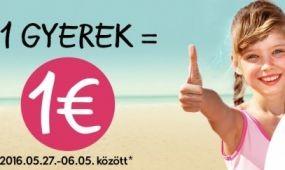 1 gyerek = 1 euró most a Neckermann-nál!