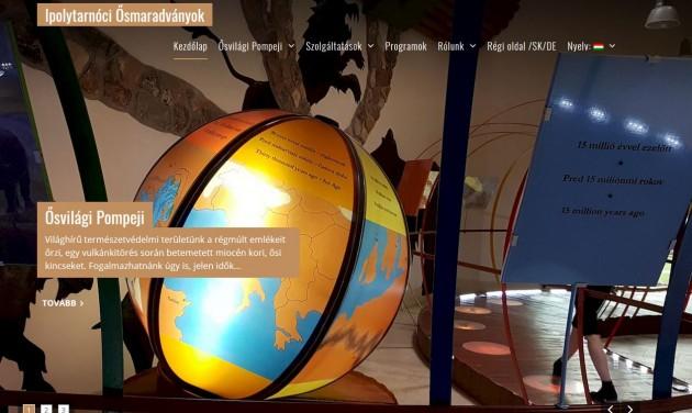 Megújult az Ipolytarnóci Ősmaradványok honlapja