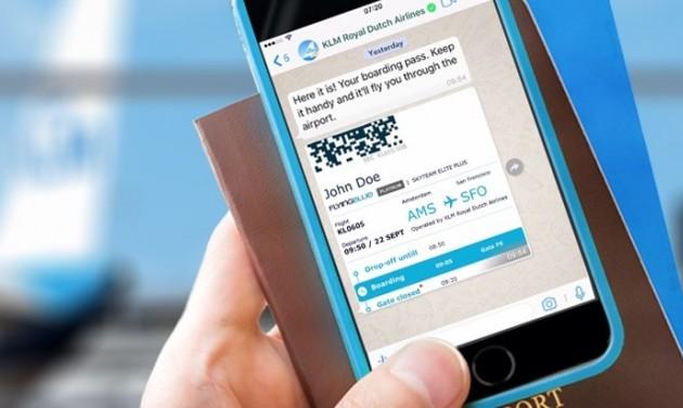 KLM a WhatsAppon