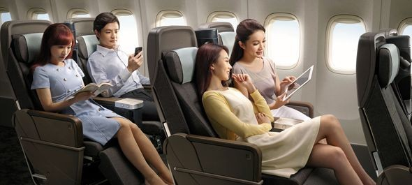 Premium economy osztály a China Airlines-nál