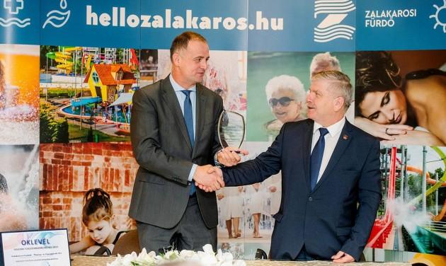 Magyar Fürdőinnovációs Díjat nyert a Zalakarosi Fürdő