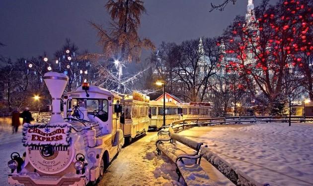 Adventi buszos behajtás Bécs belvárosába