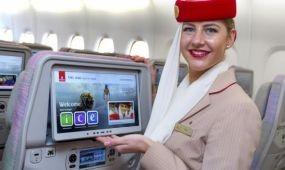Élő sportközvetítések az Emirates fedélzetén