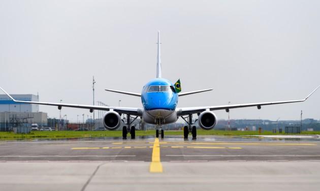 Megérkezett a negyvenedik Embraer a KLM-hez