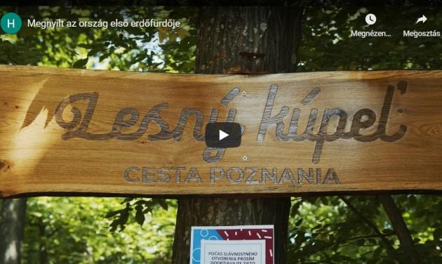 Megnyílt Szlovákia első erdőfürdője – videó
