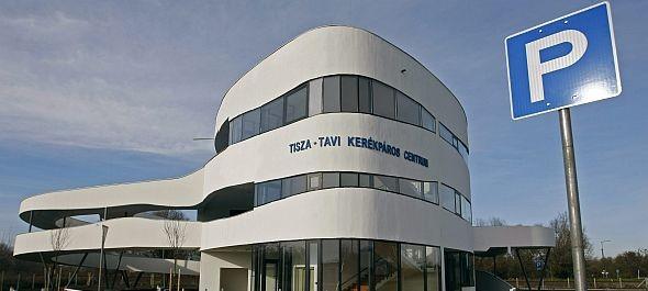 Elkészült Magyarország legnagyobb kerékpáros centruma Tiszafüreden