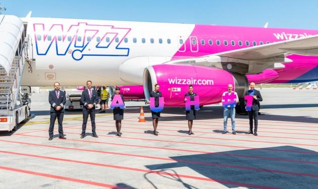 Landolt az első Wizz Air-járat Abu-Dzabiban