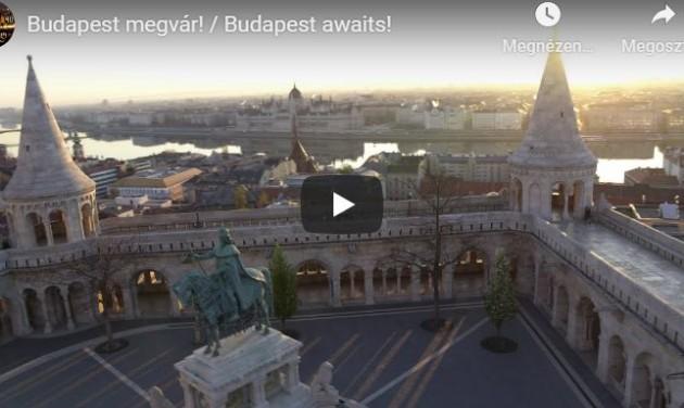 Szívmelengető imázsfilmben várnak vissza Budapest üres terei – videó