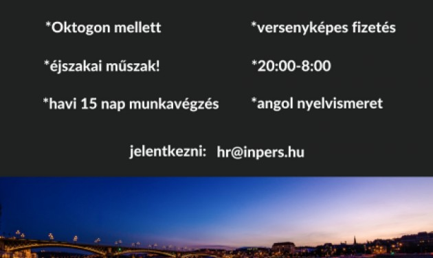 Szállodai éjszakai recepciós, Budapest VI.