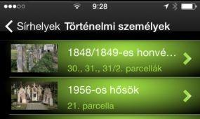Mobil applikáció a Fiumei úti Sírkert bejárására