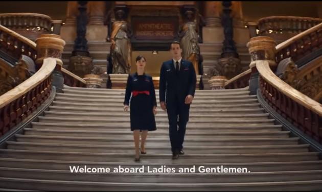 Mona Lisa, Versailles és a francia divat az Air France új biztonsági videójában