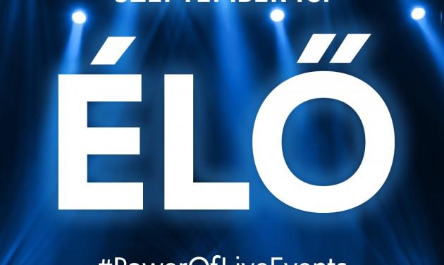 A #PowerOfLiveEvents kezdeményezés kilép a virtuális térből!