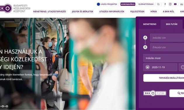 Megújult a Budapesti Közlekedési Központ weboldala