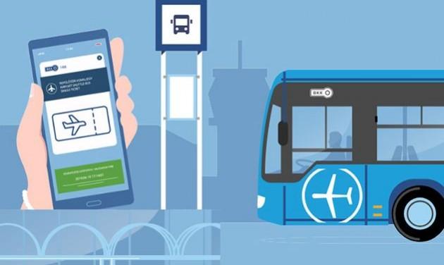 Mobilapplikációval is vásárolható jegy a 100E reptéri buszra