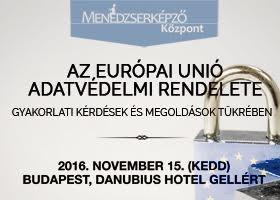Konferencia az Európai Unió új adatvédelmi rendeletéről