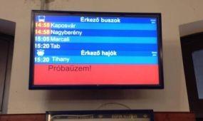 Elkészült az első integrált utastájékoztatási rendszer a Balatonnál