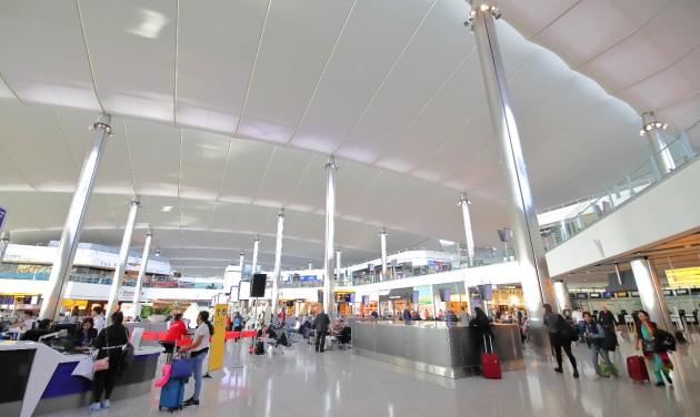 90 százalékos forgalomcsökkenés Heathrow-n