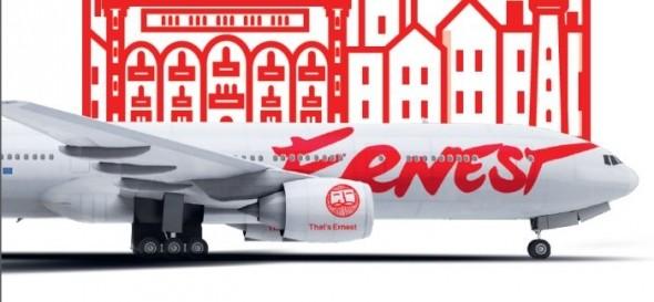 A virtuális Fly Ernest a Hahn Air legújabb partner légitársasága