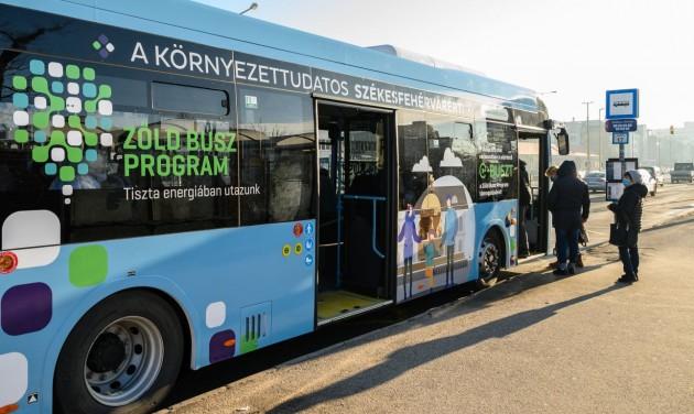 Zöld busz demonstrációs mintaprojekt Székesfehérváron