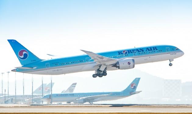 Budapest és Szöul között indít járatot a Korean Air
