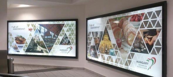 Magyarországot népszerűsítő kampány a repülőtéren