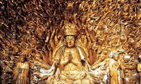 Ismét ragyog a kínai Tacu Ezerkarú Buddhája