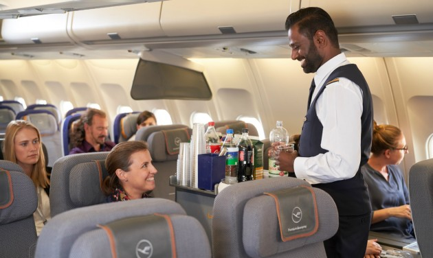 Spórol a cateringen a Lufthansa