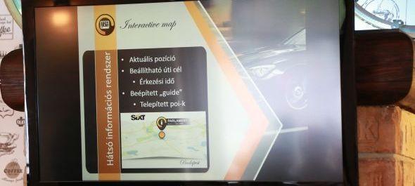 Interaktív térkép a Sixt limuzinokban