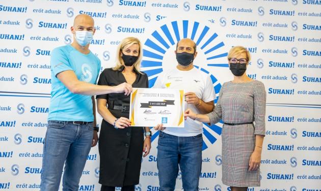BUD: 3,5 millió forintos adomány a Suhanj! Alapítványnak