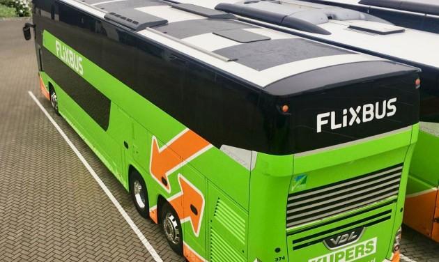 Napelemekkel csökkenti szén-dioxid-kibocsátását a FlixBus
