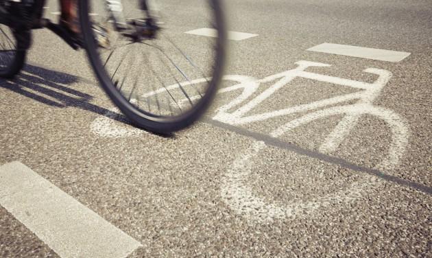 Ideiglenes kerékpársávok az Üllői úton is