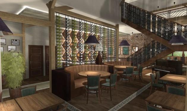 Finisben az új VakVarjú étterem építése